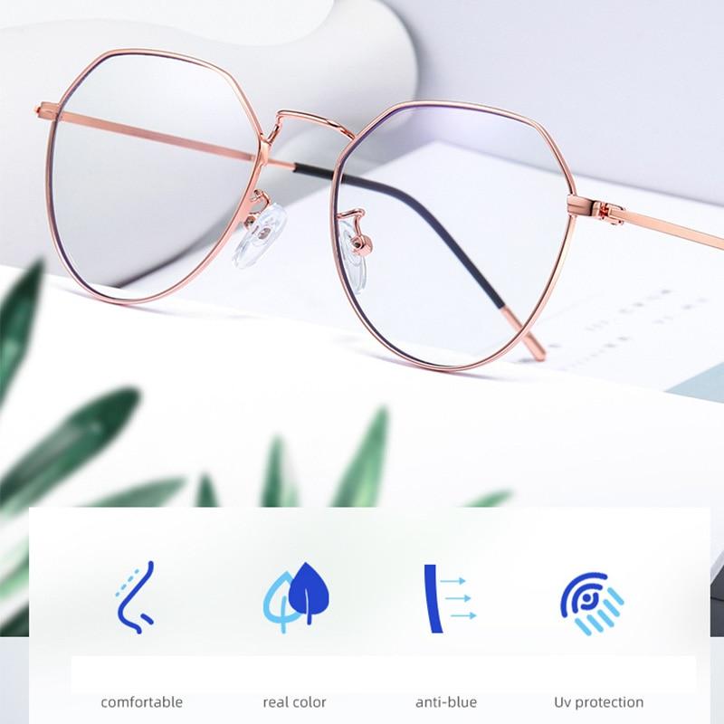 Gafas con filtro de luz azul, pantalla Anti-UV para teléfono, Anti Bloqueo de luz azul, reduce la tensión ocular Digital, gafas con lentes transparentes