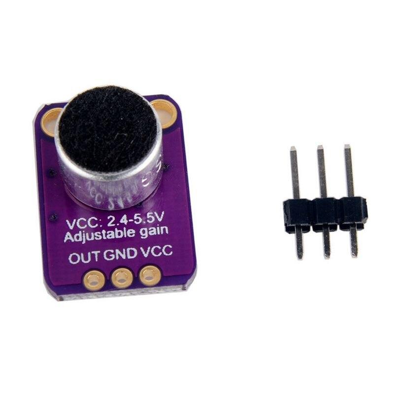 Sensor HotGY-MAX4466 amplificador de micrófono Electret con ganancia ajustable