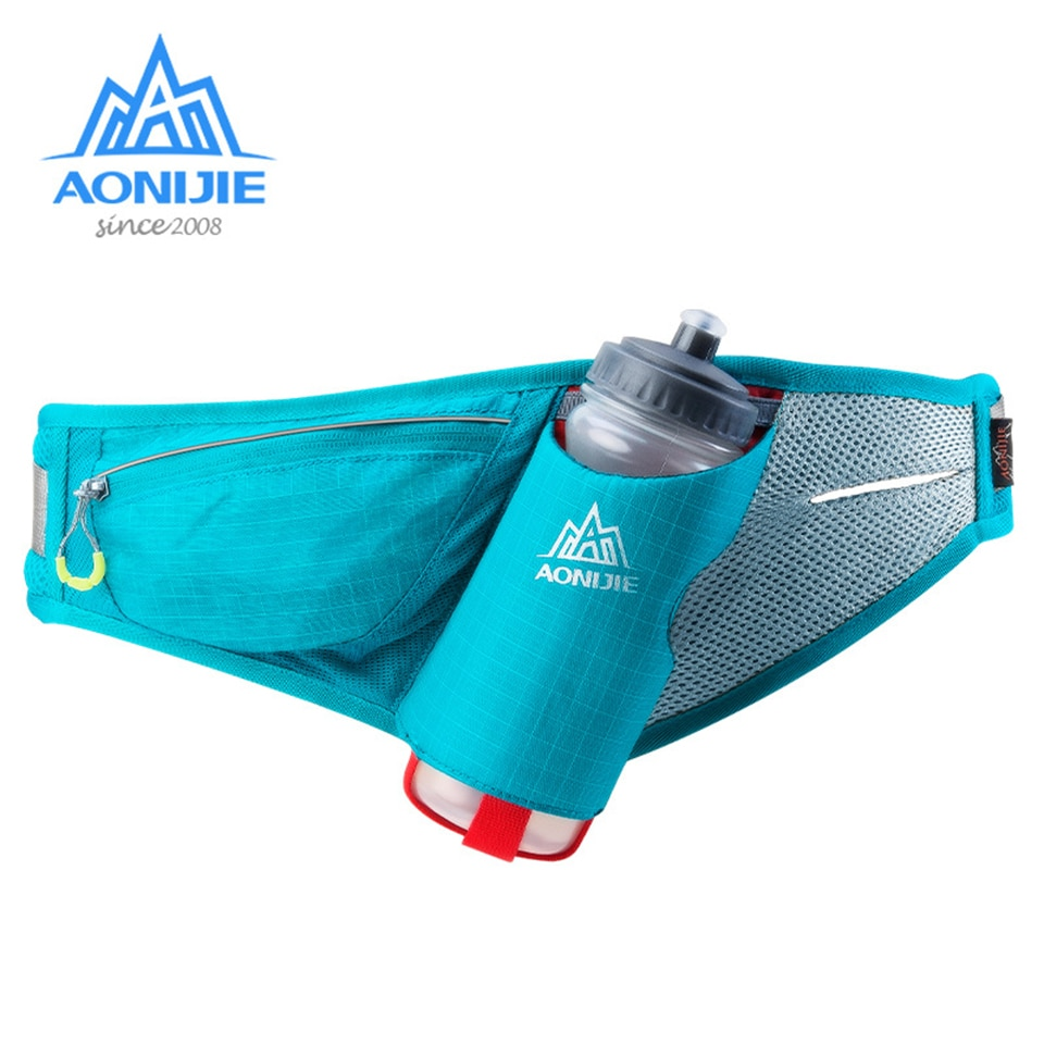 AONIJIE riñonera deportiva para correr, impermeable para hombre y mujer, bolsas para hidratación de maratón, soporte para botella, accesorios para cintura de correr