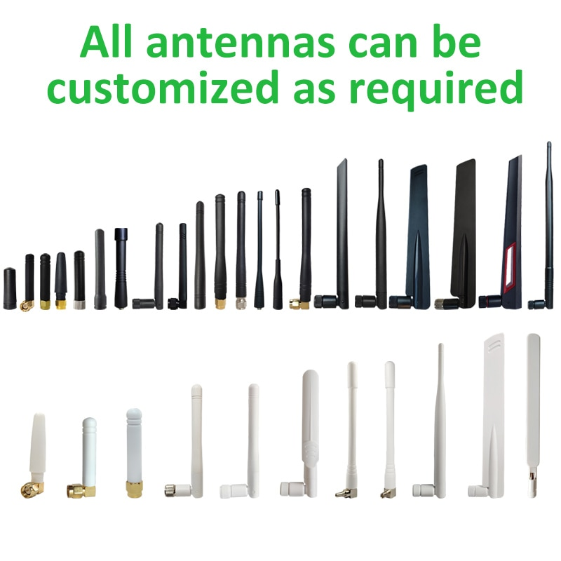 10pcs wholesale 2.4GHz Antenna 8dBi SMA male connector WIFI antenna 2.4 ghz antena + IPX to RP-SMA Male Extension Pigtail Cable enlarge