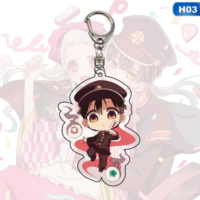 Baño-a Hanako-kun llavero brelok principales de anime soporte de llaveros párr mujer Japón principales de anime anillos