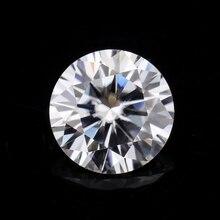 Test positif 3.5mm 0.2ct forme ronde brillant coupe GH couleur moissanites perles de pierre en vrac pour bagues de fiançailles