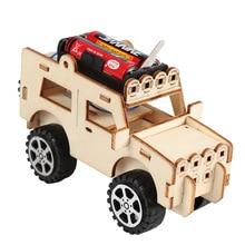 Crianças diy kit jeep carro ciência experimento educação stem brinquedos tecnologia projeto de construção eletrônica para a escola crianças menino