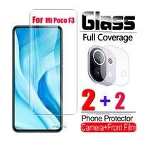 tempered glass for xiaomi pocofone poco f3 pro 5g smartphone screen protector mi little poco f3 gt camera protective glass film