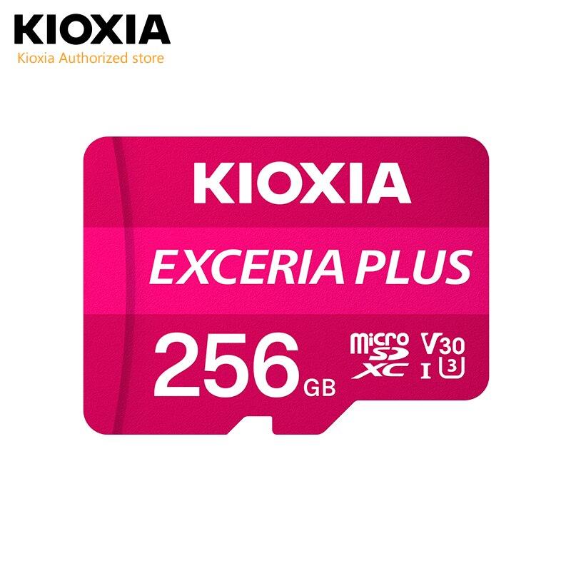 (Formerly Toshiba)Kioxia 256GB microSD Exceria Plus Flash Memory Card SD SDXC UHS-I U3 4K Class10 V30 A1 R98MB/s W65MB/s TF card