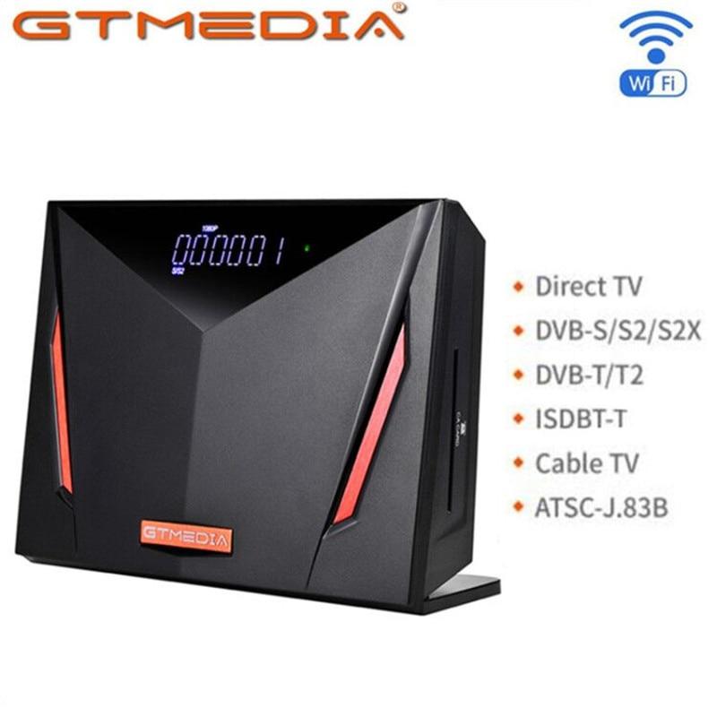 Gtmedia V8 UHD satellite receiver DVB-S/S2/S2X+T/T2/Cable/ATSC-C/ISDB AVS H.265 4K Ultra HD Built in WIFI Freesat Cccam Europa