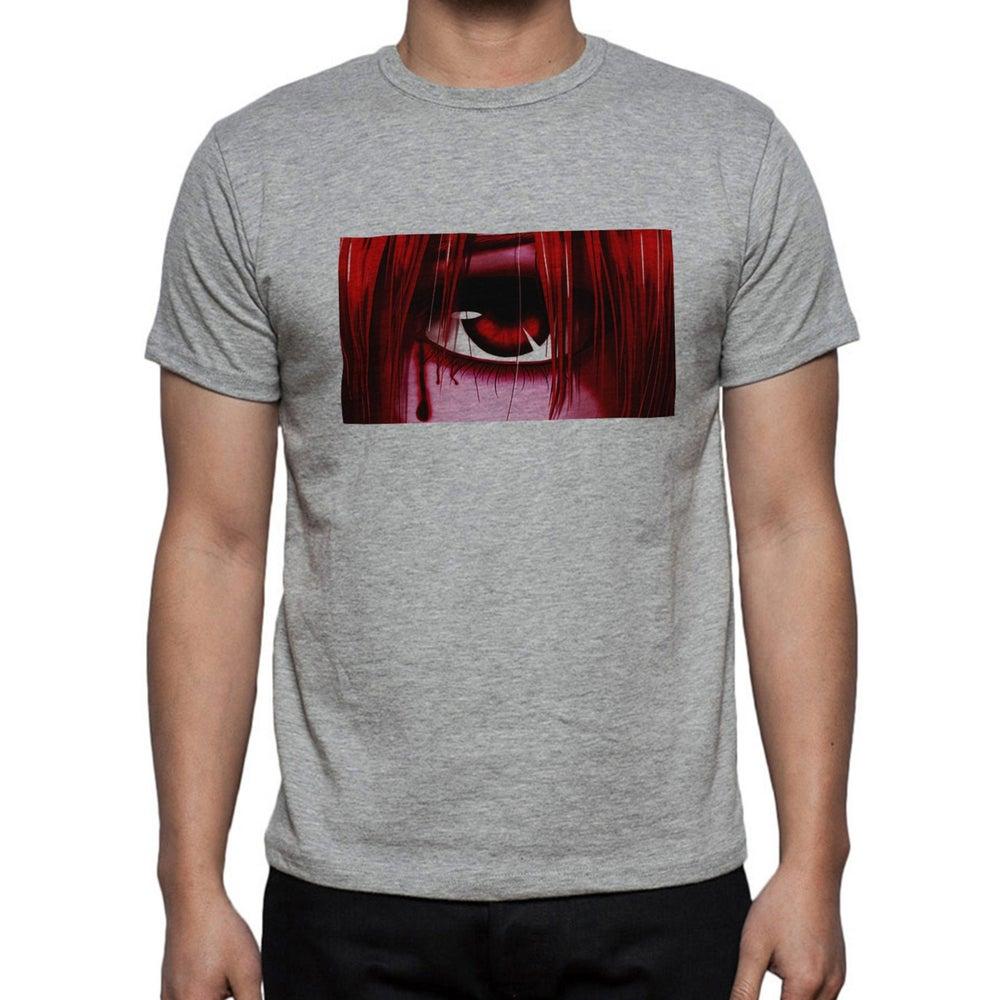 Elfen Lied Kenshin Anime Blut Tranen Logo Baumwolle gedruckt grau T shirt Top t