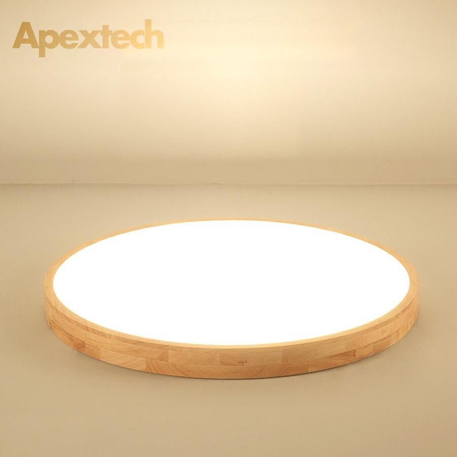 luzes de teto de madeira natural nordico redondas 30 cm 40 cm 50 cm 60 cm quarto