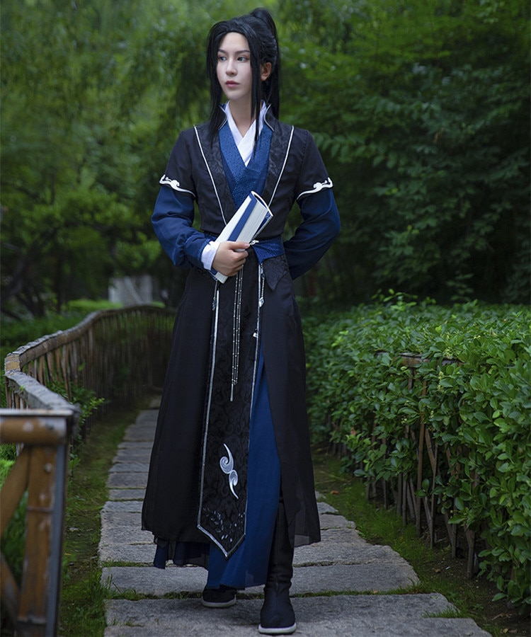 أزياء تشوان تشانغ جينج مو ران التأثيرية شا بو لانج تيان غوان سي فو ، أزياء شخصية تأثيري ، ازياء هانفو الصينية القديمة