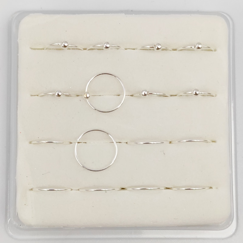 925 sterling silber Piercing Nase Ring Hoop klassische Kleine Dünne 22G * 8mm nase schmuck