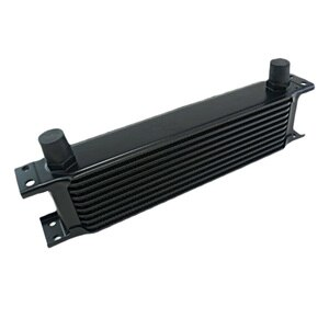 Aluminum Radiator 10 Rows British Type Car Engine Oil Cooler Cooling Radiator Replacement Universal Cooler Black