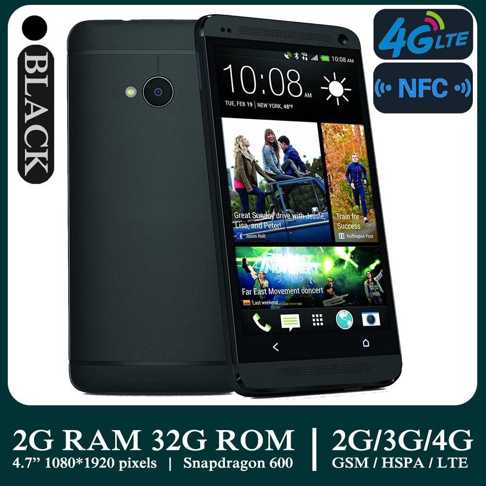 Smartphones dorigine M7 débloqué 4G-LTE 4.7 pouces 2GB RAM 32GB ROM téléphone portable Android 4MP 1080P 1080x1920 pixels téléphones mobiles NFC