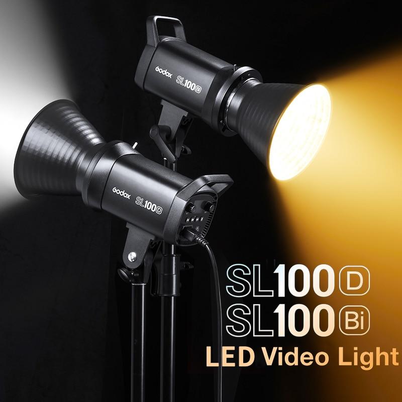 Godox SL100D SL100Bi LED فيديو التصوير أضواء 100 واط 5600 كيلو SL سلسلة في الهواء الطلق ضوء لوحة ال سي دي مصباح بونز جبل استوديو الإضاءة