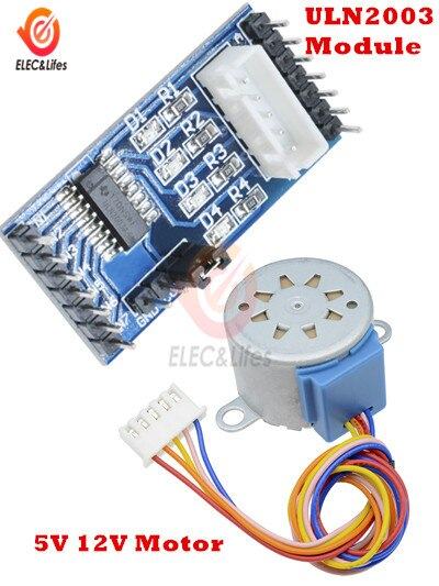 DC 5V 12V 28BYJ-48 4 Phase DC Gear Stepper Motor for Arduino + ULN2003 Module Stepper Motor Drive Driver Board Module