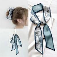 new fairy ins headband female tied hair sen super fairy bow ribbon net red ribbon head rope headdress silk scarf