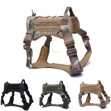 Gilet de chien de Service tactique formation gilet pour animaux de compagnie de chasse réglable armée militaire K9 Police patrouille chien harnais