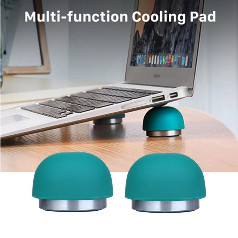 Mini suporte magnético para notebook, suporte portátil de silicone com almofada de refrigeração para laptop, para macbook pro, samsung galaxy book