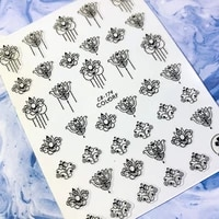 newest cb sereis cb 174 flower manicure sticker tool 3d nail art sticker nail decal stamping export japan