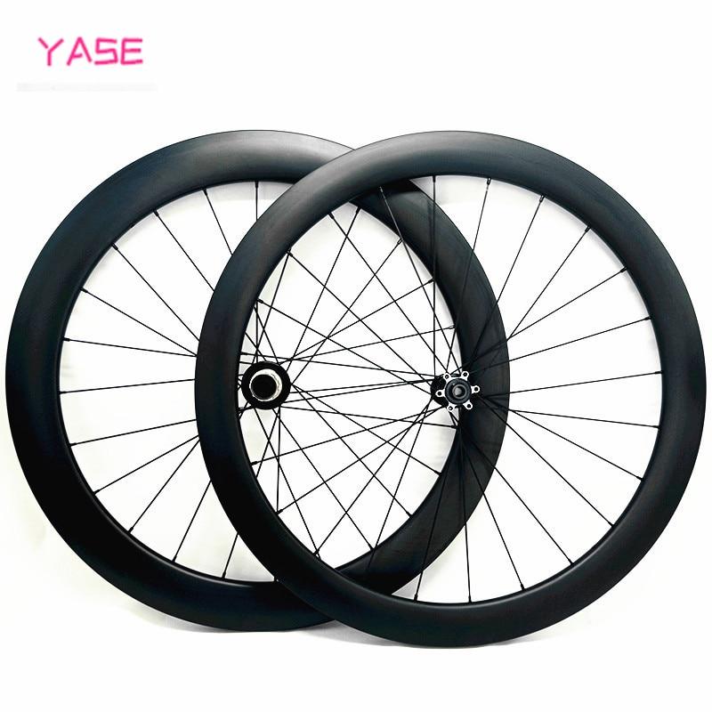 Tubular 38x23mm bicicleta 700 conjunto de roda disco estrada seis pregos powerway cx32 carbono rodado 700c 100x15mm 142x12mm roda de disco carbono