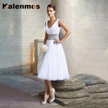 Kalenmos элегантное сексуальное кружевное летнее платье с v-образным вырезом для женщин, официальное свадебное платье-пачка, вечерние бальные п...