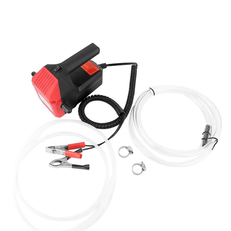 Mini Oil Pump 12V Electric Engine Oil Self-Priming Pump Hydraulic Oil Gear Pump Oil Fluid Oil Sump Extractor