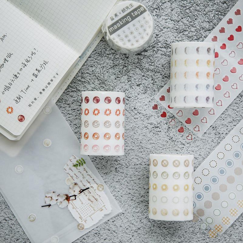 Dot Anlage Washi Band Set Farbe Herz Adhesive Masking Tapes Dekoration Hinweis Aufkleber für Tagebuch Planer Zu Tun Liste Agenda f598