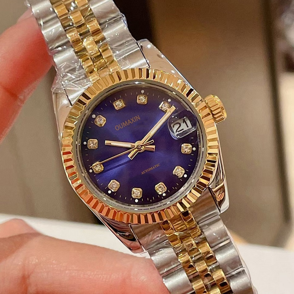 Luxury brand ladies watch automatic mechanical 31mm sapphire glass gold dial316 stainless steel clock enlarge
