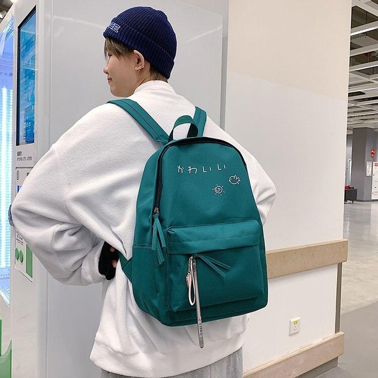 Mochila escolar de lona para estudiantes de estilo coreano, mochila escolar para estudiantes, mochila Hipster multiusos