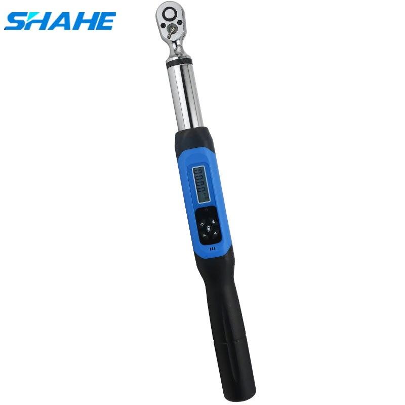 SHAHE Digital llave de Torque 1/2 ajustable profesional Llave dinamométrica electrónica herramientas de mano