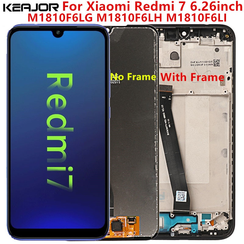 For Xiaomi Redmi 7 LCD Screen Tested AAA Lcd Display+Touch Screen Replacement with Frame On For Xiaomi Redmi 7 M1810F6LG original lcd frame for xiaomi redmi 5a lcd display screen replacement for redmi 5a screen digiziter assembly aaa quality