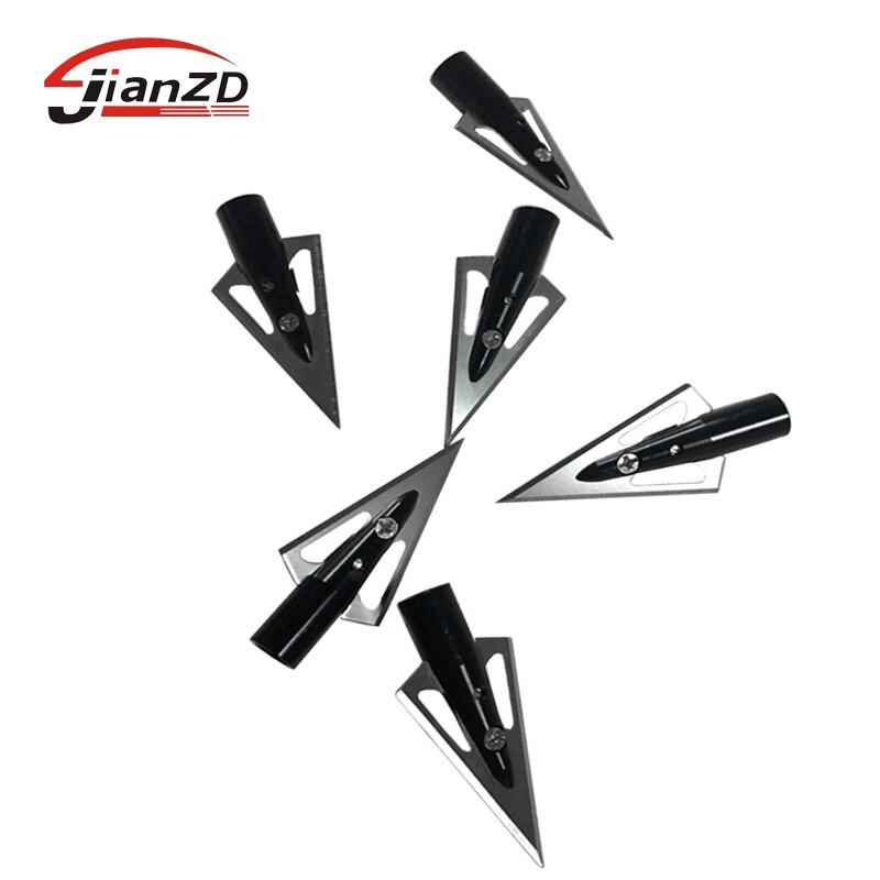 6/12 pçs alta qualidade broadheads 125 grão de alumínio arrowhead 8mm em para fibra de vidro seta carbono tiro caça