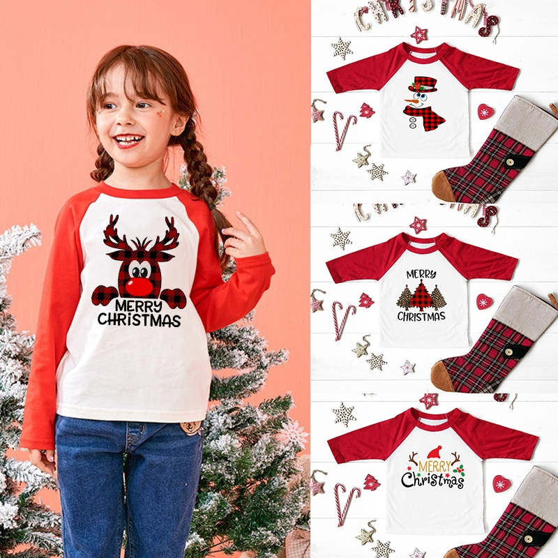 camiseta natal vermelha para criancas camisa feliz cristao feriado camiseta de baseball