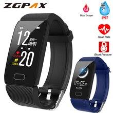 Bracelet de Fitness pression artérielle 1.14 écran Fitness Tracker montre intelligente étanche Bracelet intelligent affichage météo femmes hommes