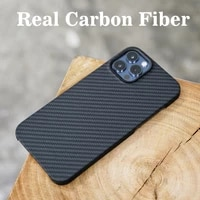 foaber real carbon fiber case for iphone 12 pro max 12pro 11 mini case ultra thin ultra light business fashion back cover