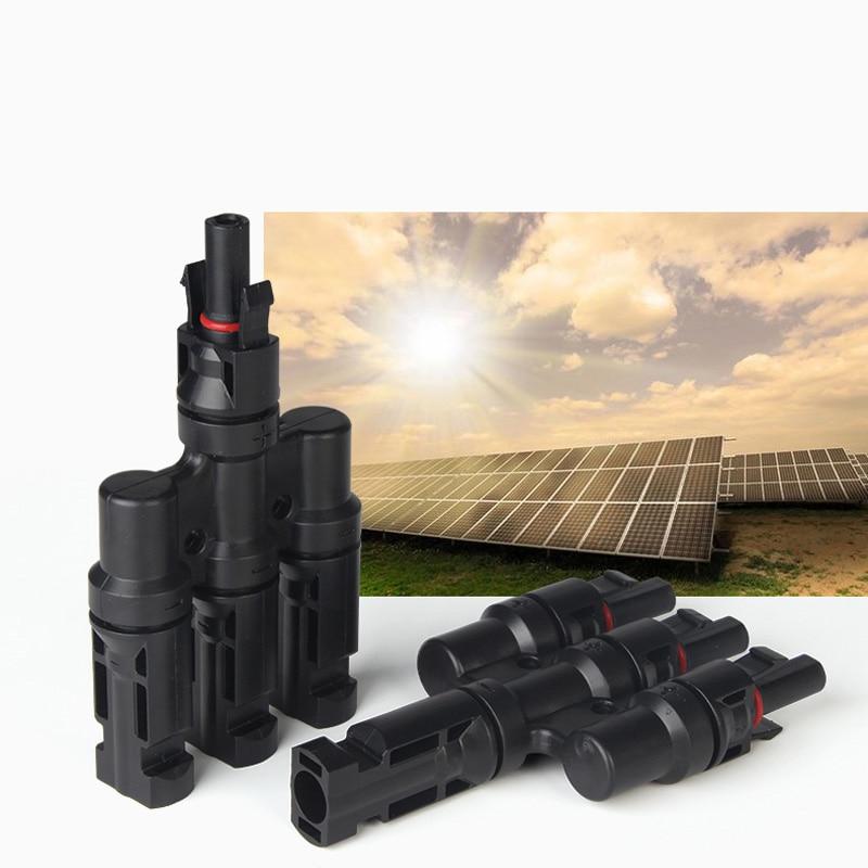 Conectores fotovoltaicos 3 en 1 conectores impermeables para Panel Solar Flexible en paralelo para casa de cabaña RV techo yate
