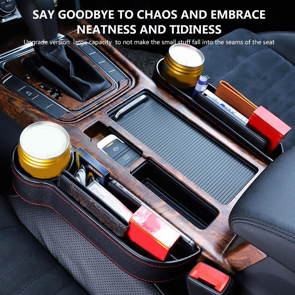 Caja de almacenamiento de bolsillo lateral de la consola de relleno de espacio de asiento de coche organizador de asiento de coche antideslizante resistente a la abrasión