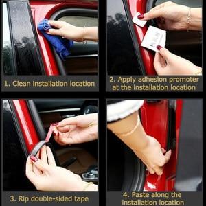 Image 5 - Резиновая уплотнительная лента L типа для автомобильной двери, двухслойные уплотнительные клейкие наклейки, автомобильные аксессуары для интерьера автомобиля