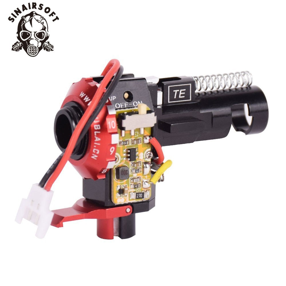 Tactical PRO CNC Aluminum Red Hop Up Chamber With LED For BB AEG M4 M16 Paintball Airsoft Hunting Shooting Target Free Shipping