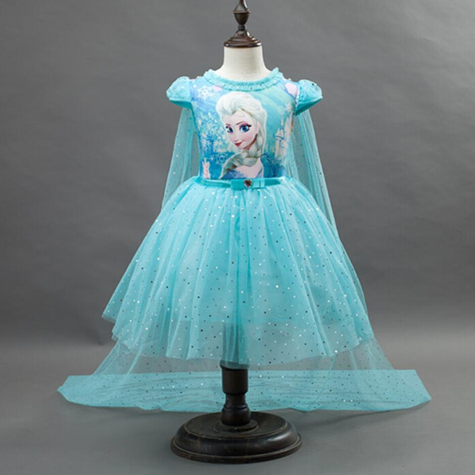 Платье принцессы Софии высокого качества пушистый Детский Костюм праздничные вечерние Подарочные платья на день рождения для маленьких детей, одежда для девочек, От 2 до 8 лет