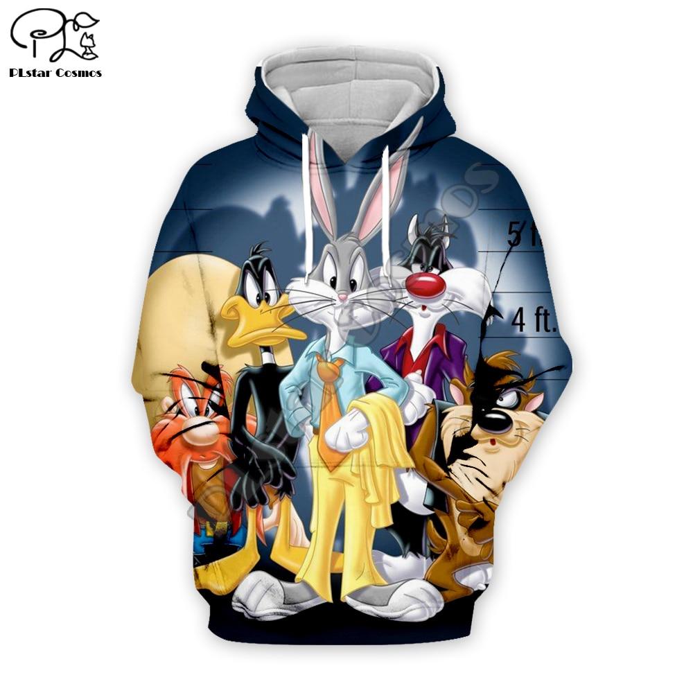 PLstar Cosmos Anime Bugs Bunny colorful Cartoon tracksuit New Fashion 3DPrint Zipper/Hoodies/Sweatshirt/Jacket/Mens Womens s-1