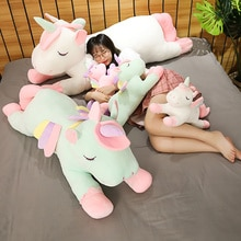 New Giant Size 130cm Unicorn Plush Toy Soft Stuffed Rainbow Unicorn Doll Animal Horse Toy High Quality Gifts for Children Girls