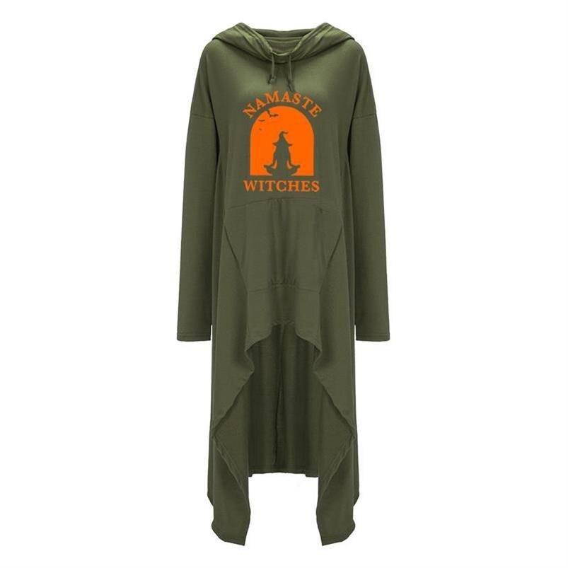 Длинные Намасте ведьмы с буквенным принтом толстовки для женщин топы толстовки пуловер 2021 Молодежные спортивные кофты для девочек свободн...