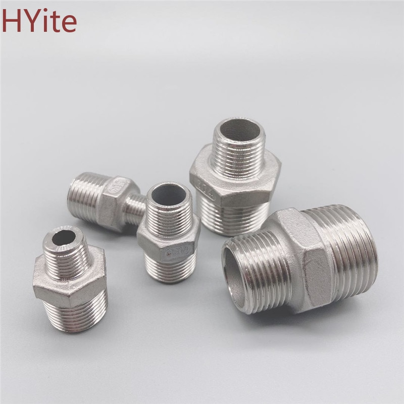 Hex Nipple Union 304 Stainless Steel Pipe Fitting Connector Coupler water oil 1/8 3/8 1/2 1 1-1/2 BSP Male to Male Thread 304 stainless steel male bsp 1 8 3 8 1 2 1 4 inch thread 6 16mm pipe fitting hose barb tails connector joint coupler adapter