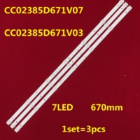 1 lot=3 pieces CC02385D671V07 led backlight for 39inch CC02385D671V03 385B 385E20 3X7 7S1P 1910 0D20 1pcs=7lamps
