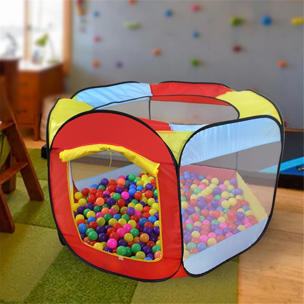 Juego casa interior al aire libre fácil plegable océano bola piscina Pit tienda de juego Hut niñas jardín casa de juegos niños tienda de juguete #50