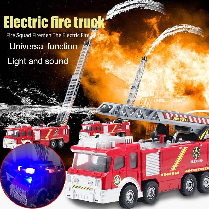 Детская электронная мощная пожарная машина, игрушка с водными огнями для стрельбы, звуковая лестница BM88