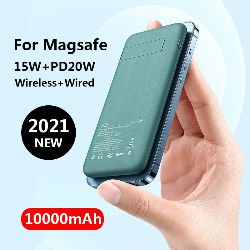 15W Magnetic Charger Power Bank For Magsafe Iphone12pro Max Mini Wireless Charging PD20w Powerbank 10000mAh Mobile Phone Battery