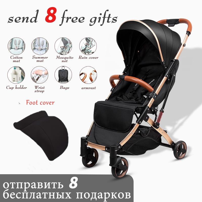 Ru شحن مجاني! عربة أطفال خفيفة الوزن للغاية قابلة للطي مع ممتص للصدمات ، عربة أطفال على متن الطائرة