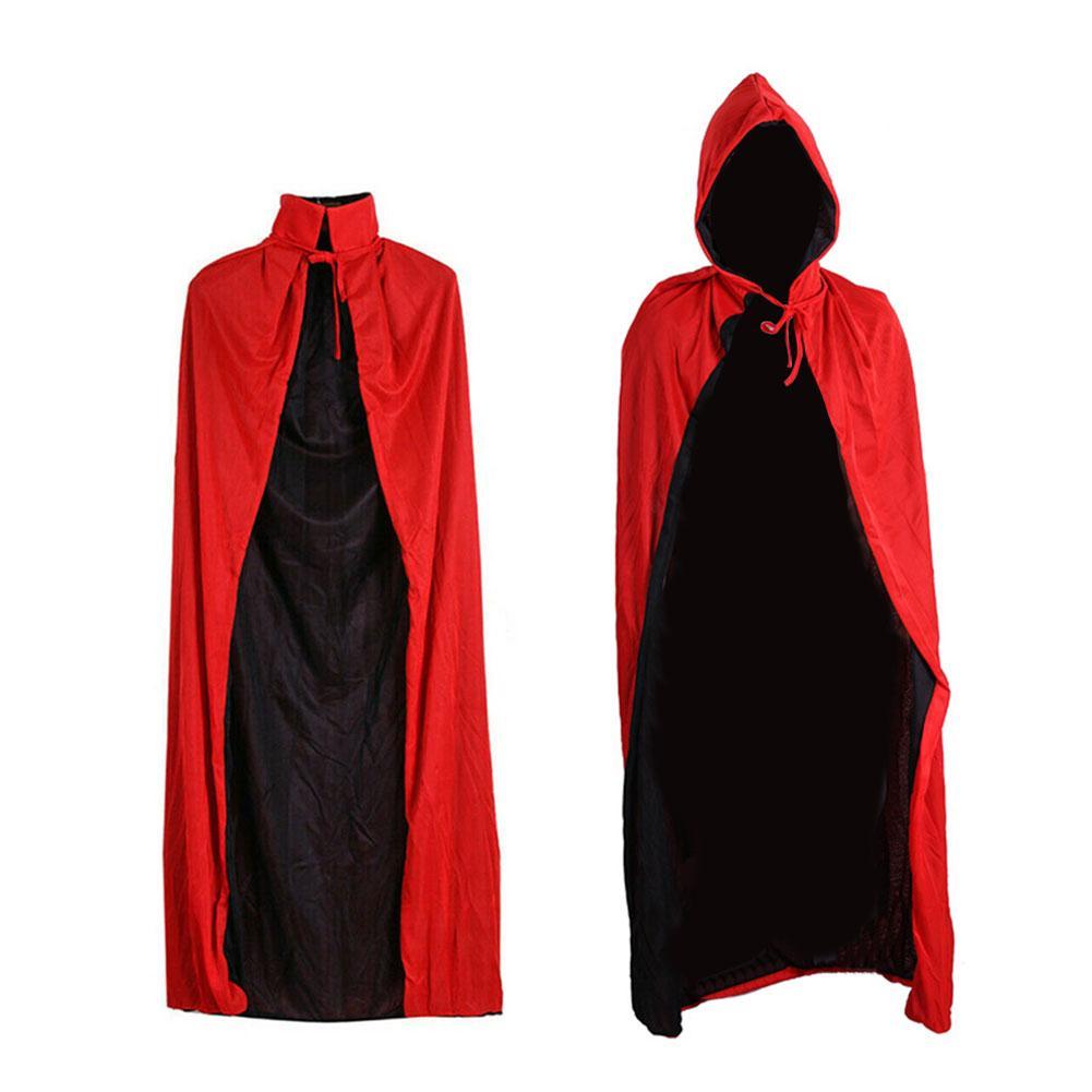 CAPA para Halloween, capa gótica con capucha, capa Unisex de terciopelo para adultos, capa con capucha, disfraz Medieval, Túnica de vampiro Wicca