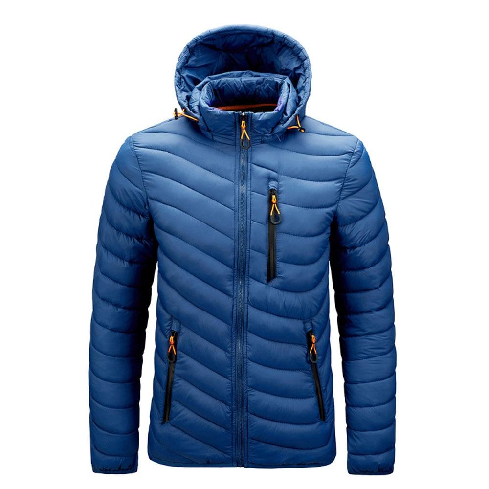 Осень-зима Мужская стёганая куртка с капюшоном пальто стильная детская курточка, красивая детская куртка-парка тонкий, на застежке-молнии, ...